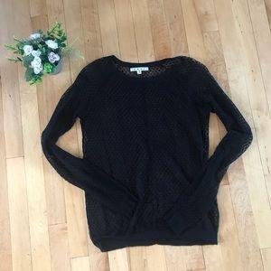 Cabi Sheer Long Sleeve Pullover